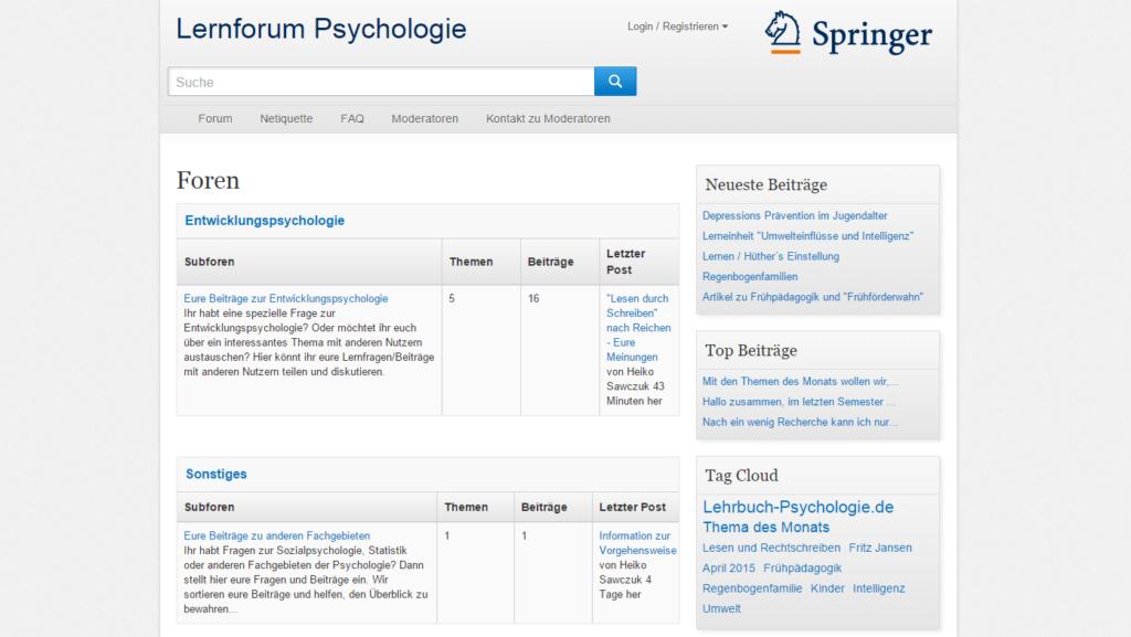 Springer Lernforum Psychologie