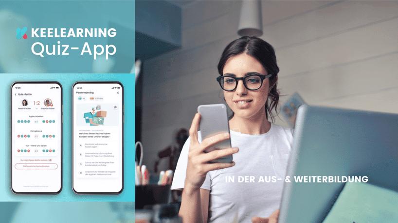Aus- und Weiterbildung mit Spaß - dank keelearning Quiz-App
