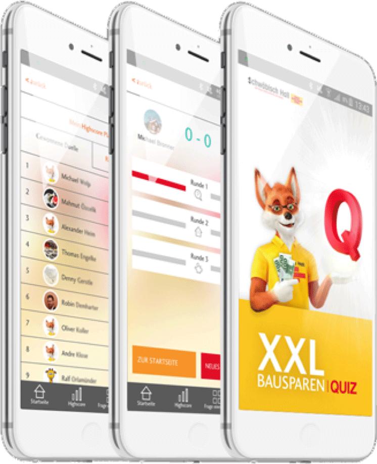 Quiz-App Bausparkasse Schwäbisch Hall
