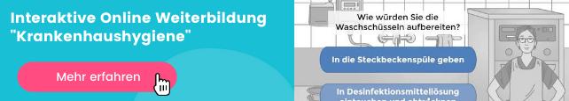 Weiterbildung Krankenhaushygiene E-Learning