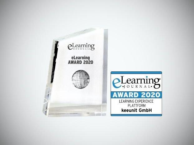 keeunit gewinnt den E-Learning Award 2020 – Beste Learning Experience Platform